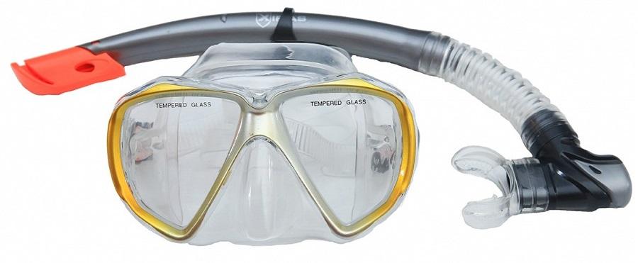 Σετ μάσκα siliter και αναπνευστήρας με βαλβίδα Mask Xifias 847