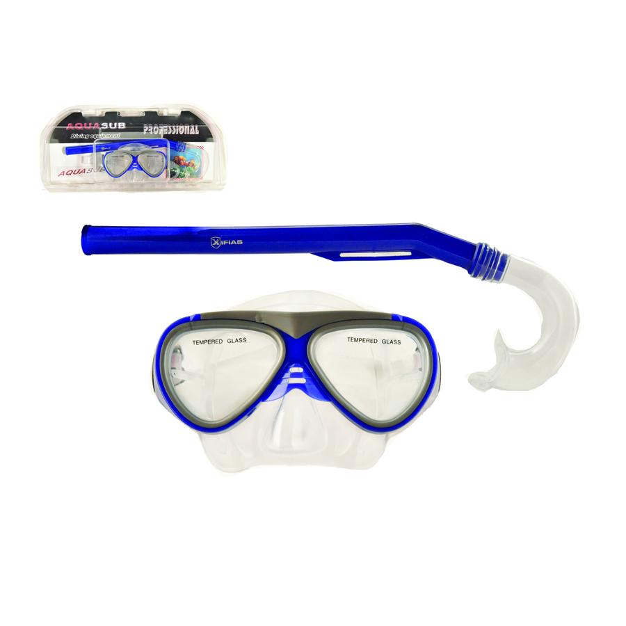 Σετ παιδική μάσκα siliter και αναπνευστήρας Mask Xifias 836