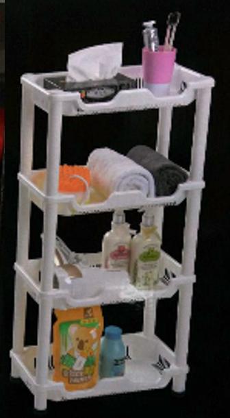 Πλαστική ραφιέρα με 4 ράφια Life Assistant