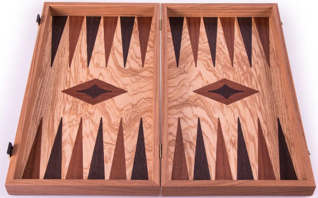 Χειροποίητο τάβλι 48x62cm μαόνι ελιά & wenge MANOPOULOS THH1