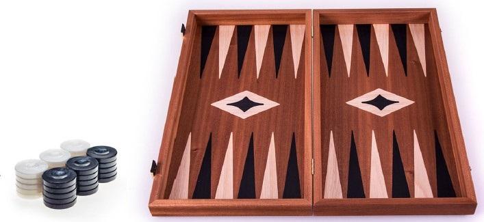 Χειροποίητο τάβλι 48 x 50cm με φυσικό ξύλο μαόνι MANOPOULOS TMM1