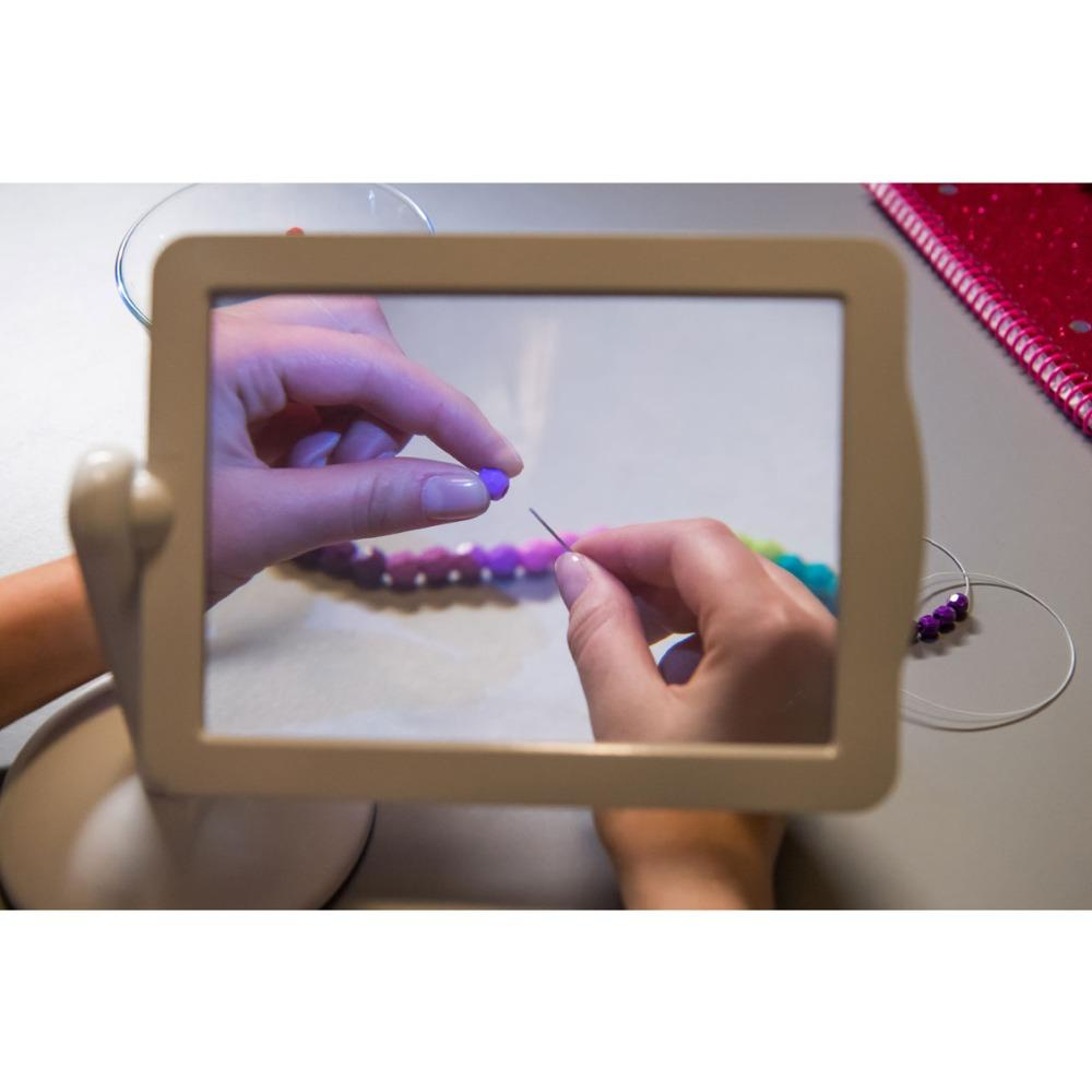 Επιτραπέζιος μεγεθυντικός φακός 360 μοιρών Hands Free magnifier με LED