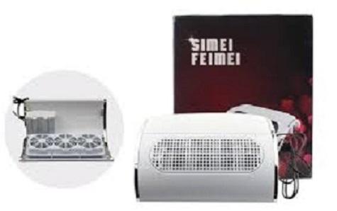 Ηλεκτρικός στεγνωτήρας νυχιών & απορροφητήρας πάγκου ονυχοπλαστικής 25W SIMEI FEIMEI 858-5