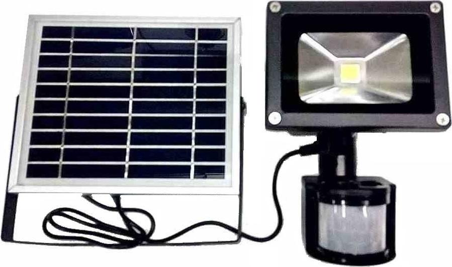 Ηλιακός προβολέας εξωτερικού χώρου IP 65 10W 6000k με ανιχνευτή κίνησης- φωτός λευκό OEM SL10PIR