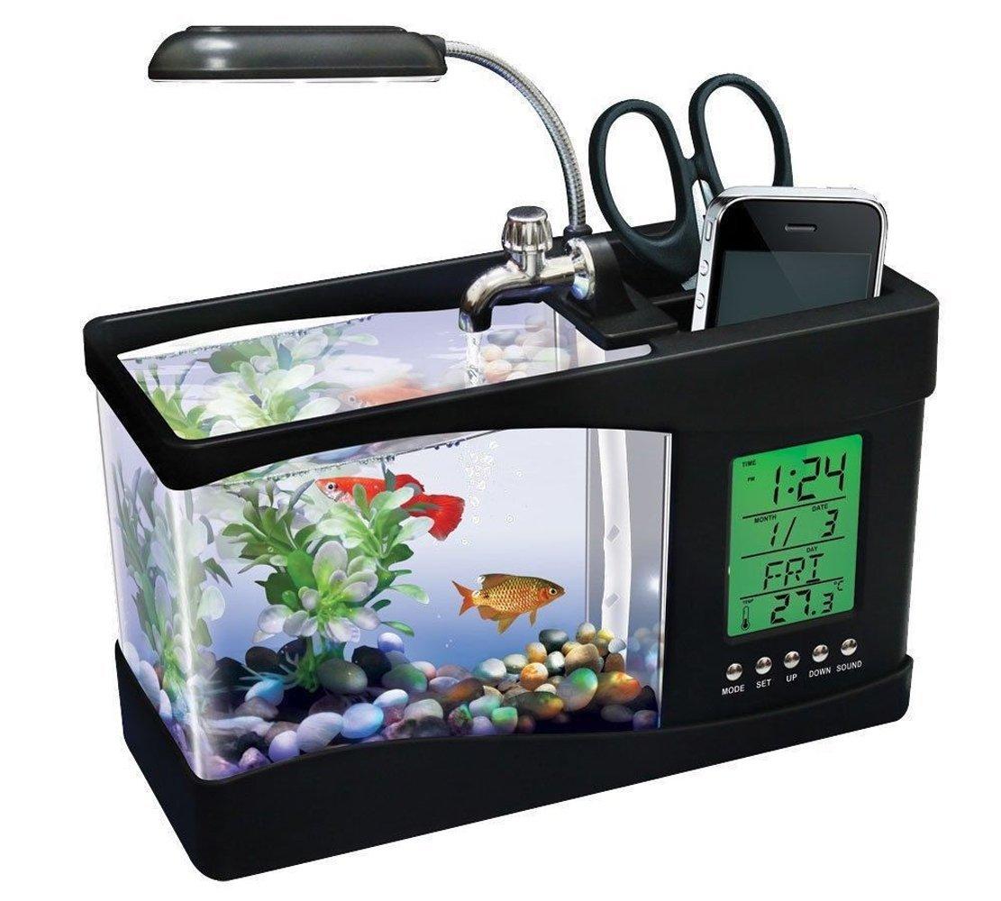 Mini  Ενυδρείο με οθόνη LCD 2,2 Lt με υποδοχή USB Lileng 920