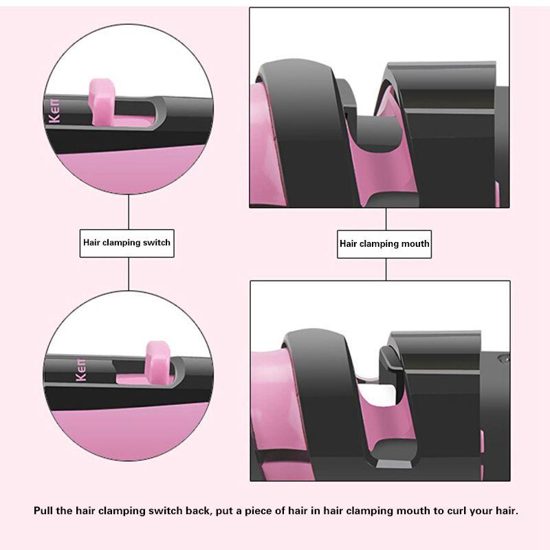 Συσκευή μαλλιών για μπούκλες με κεραμική επίστρωση Kemei KM-1215