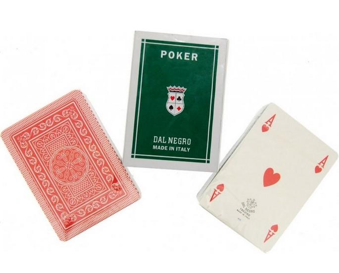 Χάρτινη Dal Negro Ιταλίας Poker Marco Polo Κόκκινη 021045