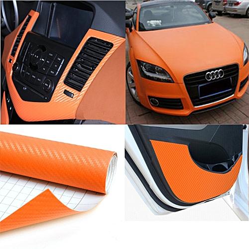 Ταινία προστατευτική Πορτοκαλί 152 x 300 cm 3D Carbon Fiber Film W-FA