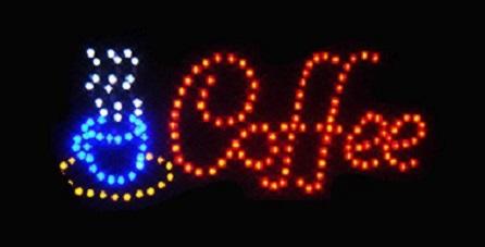 """Φωτιζόμενη πινακίδα με κίνηση """" COFFEE """" OEM"""
