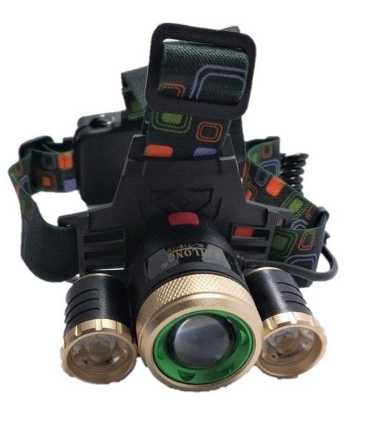 Επαναφορτιζόμενος τριπλός Φακός Κεφαλής LED 3000 Lumen 8000Mah rotate the focus headlights t19