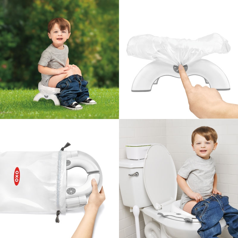 Φορητή Παιδική Τουαλέτα & Εκπαιδευτικό Κάθισμα 2 σε 1 Go Potty