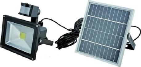 Ηλιακός προβολέας εξωτερικού χώρου IP 65 20W 6000k με ανιχνευτή κίνησης- φωτός λευκό OEM SL20PIR