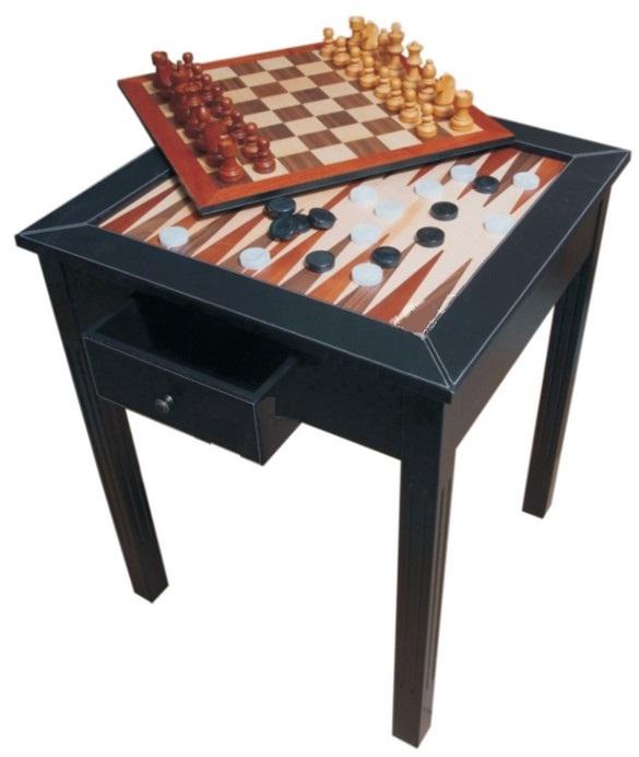 Τραπέζι τετράγωνο δερματίνης για Σκάκι & Τάβλι 58 x 58 x 72cm 60410