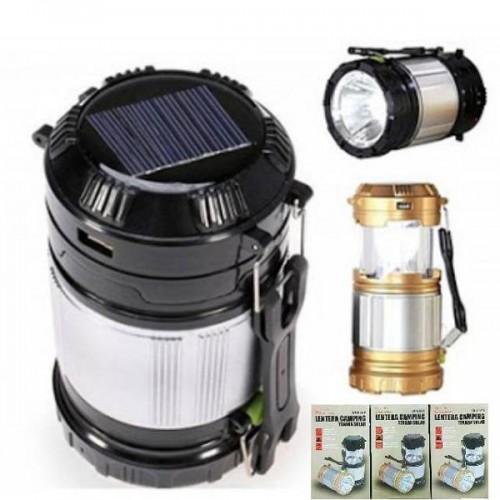 Επαναφορτιζόμενος & Ηλιακός Φακός Με έξοδο USB Camping Lamp Zoom ZM-9599