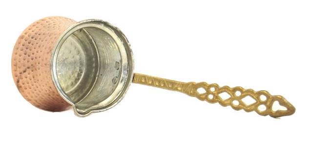 Μπρίκι χάλκινο με μεταλλική λαβή N1