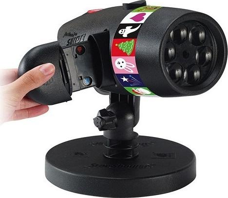Νυχτερινός Γιορτινός Προβολέας Φωτισμός Με 12 Χριστουγεννιάτικα Θέματα Slides Laser Projector SP-2925