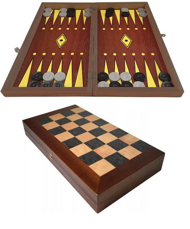 Τάβλι - Σκάκι τύπου φορμάικα 38 x 38cm