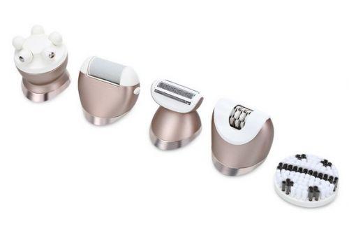 Επαναφορτιζόμενη Συσκευή Αποτρίχωσης, Ξυριστική, Βούρτσα Καθαρισμού, Μασάζ , Αφαίρεση Κάλων Kemei KM-8001
