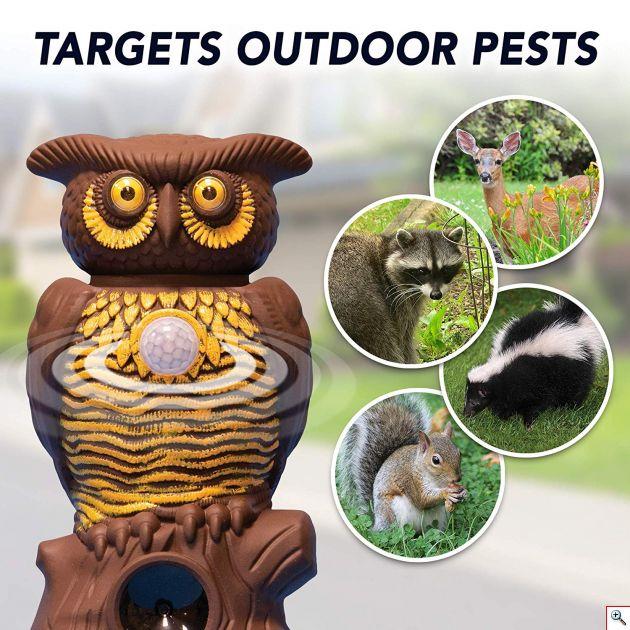 Απωθητικό Τρωκτικών, Σκύλων, Αλεπούδων, Πουλιών με Αισθητήρα Κίνησης, Υπέρηχους, Laser Φωτισμό Απώθησης - Εντομοαπωθητικό Εξωτερικού Χώρου Κήπου
