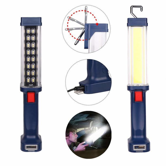 Επαναφορτιζόμενος Φακός εργασίας LED COB 20w με μαγνητικό στήριγμα και γάντζο OEM ZJ-889