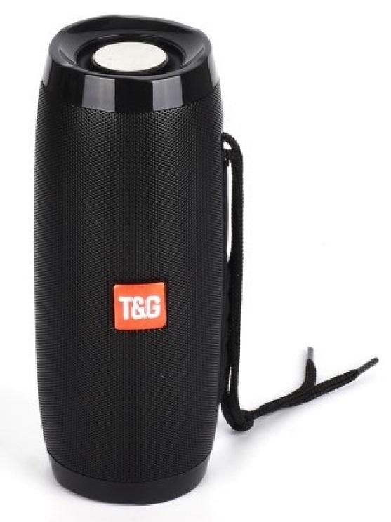 Φορητό Ασύρματο Ηχοσύστημα Bluetooth Με LED Φωτισμό & FM Ραδιόφωνο Μαύρο Ηχείο Multimedia Player Radio T&G TG-157