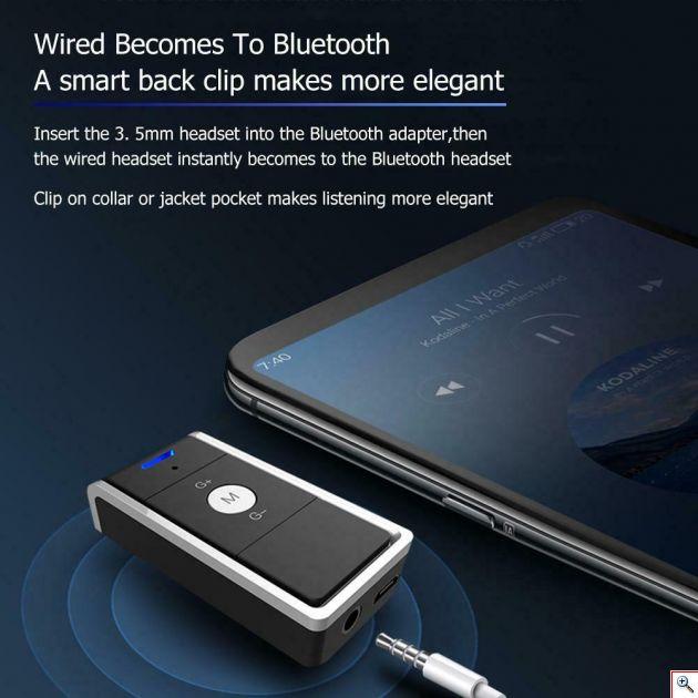 Συσκευή που μετατρέπει οποιαδήποτε Συσκευή Ήχου – Ηχείο σε Ασύρματο Bluetooth Δέκτη Wireless AUX Δέκτης Μουσικής Receiver BT10