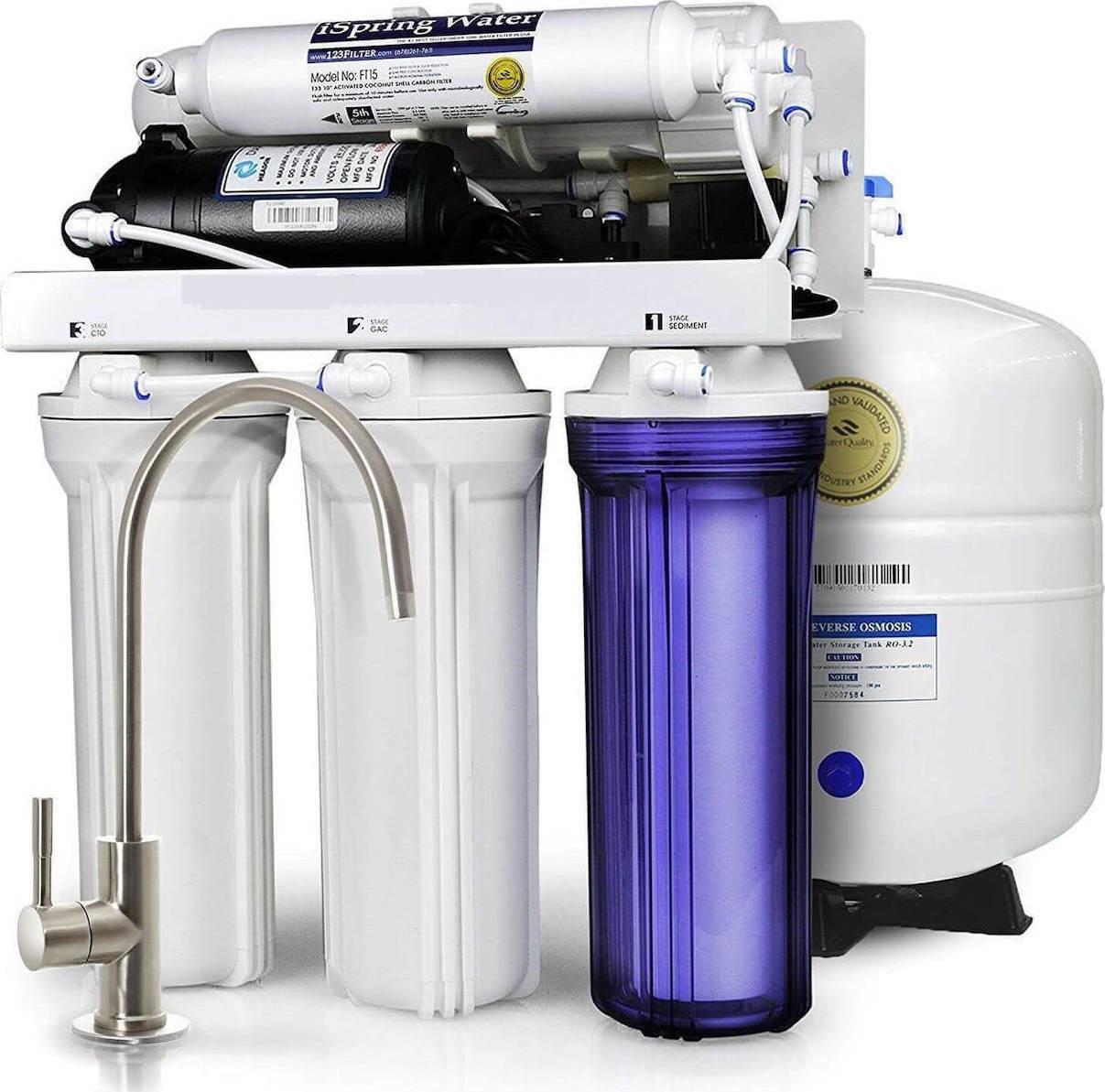 Σύστημα καθαρισμού νερού 5 σταδίων Αντίστροφης Όσμωσης Eiger RO ECO 5