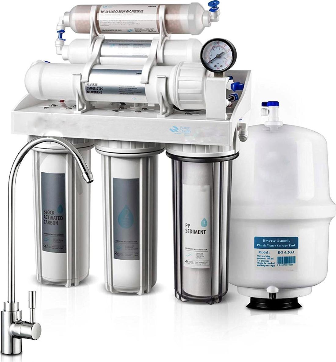 Σύστημα καθαρισμού νερού 6 σταδίων Αντίστροφης Όσμωσης Eiger RO ECO 6