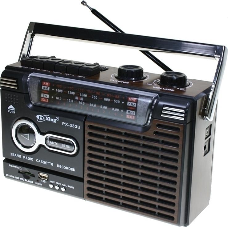 Ραδιοκασετόφωνο Φορητό με USB/SD Mp3 Player, Ρεύματος και Μπαταρίας OEM PX 333U