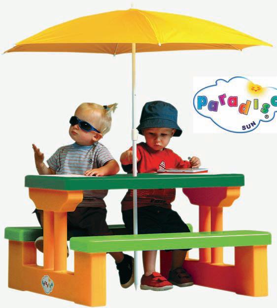 Τραπέζι Picnic με ομπρέλα για τέσσερα παιδιά Paradiso