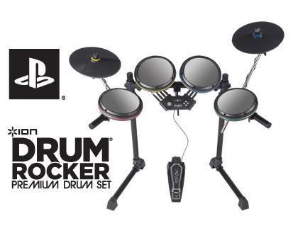 Ρεαλιστική εμπειρία ντραμς Drum Rocker PlayStation 3 ION AUDIO