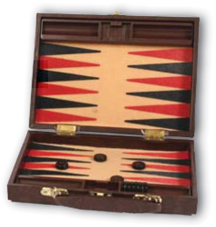 Τάβλι ταξειδίου δερμάτινη βαλίτσα με τσόχα SBK I 22,5x16,5x4,5cm