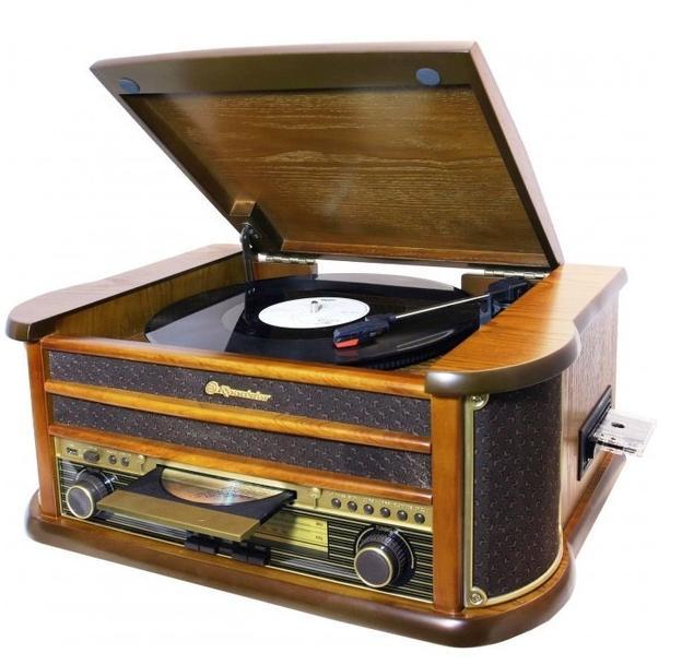 Πικάπ vintage με Ράδιο-CD-USB-CASSETTE Roadstar 1899 TUMPK