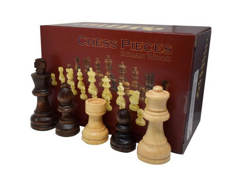 Τάβλι - Σκάκι Οξιάς Τύπωμα Ελιά 38Χ38cm με Πιόνια Ξύλινα με Βάρος Μπεζ/Καφέ 75mm