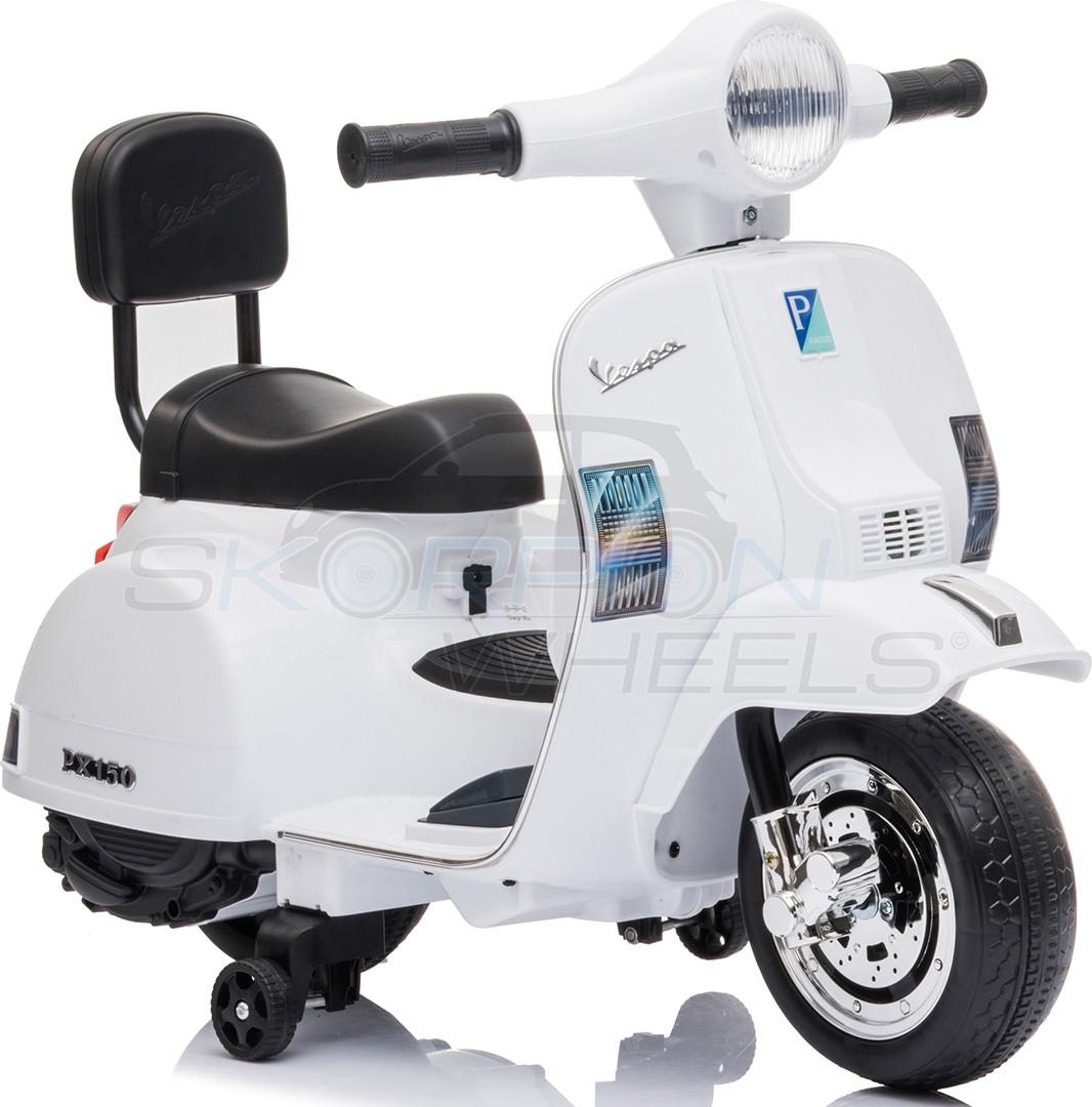 Παιδική Ηλεκτρική Vespa Piaggio Original 6V Λευκή Skorpion Wheels 5245008