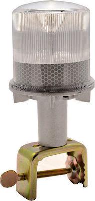 Ηλιακός Φανός Προειδοποίησης (Σπίθα) 4 LED, Λευκός, Αναλάμπων ΗΜ10040