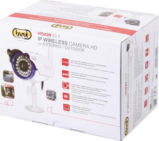 Trevi IP Wi-Fi Έγχρωμη Κάμερα  Εξωτερικού χώρου Αδιάβροχη HD Vision 50E