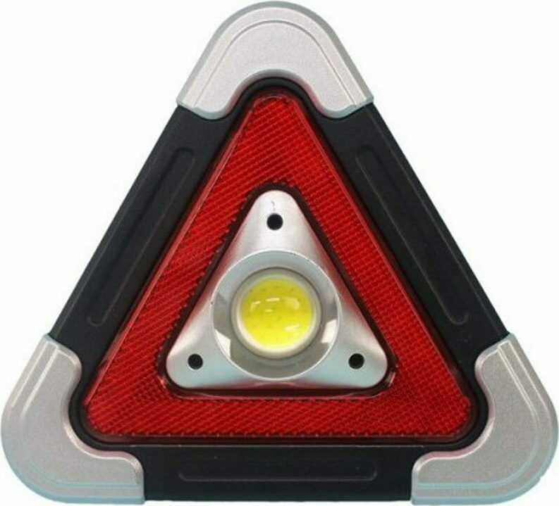 Φωτιζόμενο Τρίγωνο Ασφαλείας Αυτοκινήτου πράσινος &  Επαναφορτιζόμενος Φακός Εργασίας Hurry bolt HB-6609