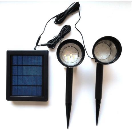 ΗΛΙΑΚΟΣ ΠΡΟΒΟΛΕΑΣ ΔΙΠΛΟΣ, 12 ΛΕΥΚΑ LED SOLAR-HM 21012