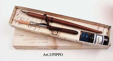 Πένα Ξύλινη χειροποίητη - Μολύβι με μελάνι FRANCESCO RUBINATO 2