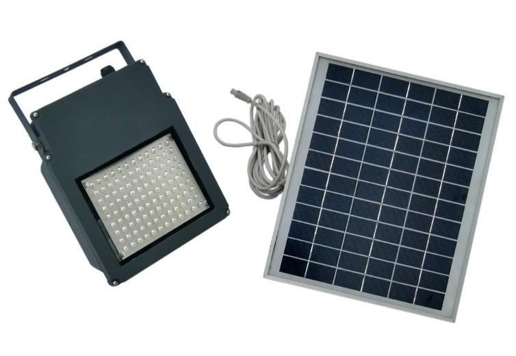 Ηλιακός προβολέας 108 λευκά led solar hm 21108