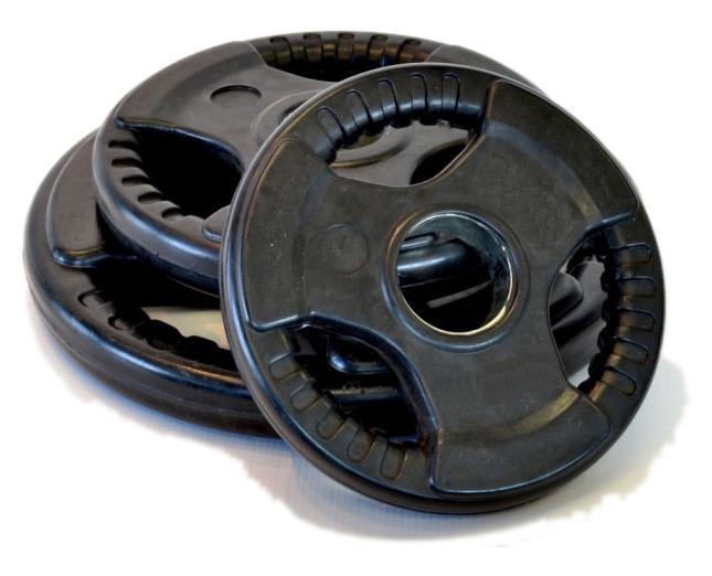 Δίσκοι Ολυμπιακού Τύπου 15 kg - Φ50  ελαστικοί PROFESIONAL OLYMPIC PLATE