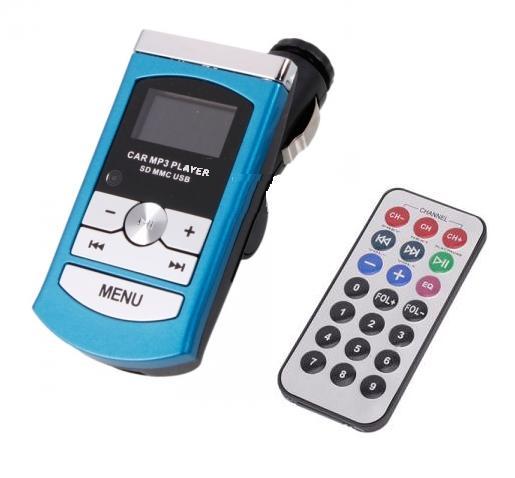 """Αναμεταδότης ήχου FM Αυτοκινήτου Car mp3 music &  WMA με fm transmitter και 1"""" lcd transmitter mp3 moto-a300"""