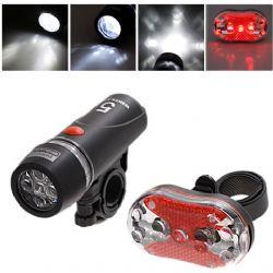 Αδιάβροχος φακός 5 LED ποδηλάτου Head Light συν πίσω φως ασφαλείας ποδηλάτου με Kόκκινα 9 LED MX-128