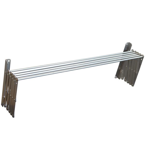 Απλώστρα ρούχων για τοίχο ή μπάνιο 5 m από αλουμίνιο πτυσσόμενη SECHE LINGE ND 800 08
