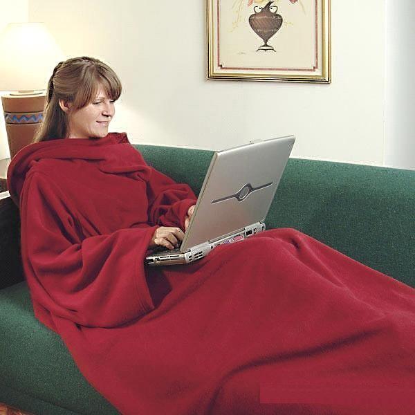Κουβέρτα ζεστή με μανίκια για τις κρύες μέρες του χειμώνα