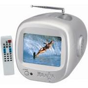 Έγχρωμη φορητή τηλεόραση 6'' με τηλεχειριστήριο - συμβατή με camera παρακολούθησης ή καταγραφικό OC-2183
