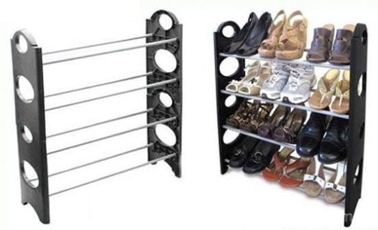 Παπουτσοθήκη 4 Ραφιών Φορητή 65 x 19x 49 cm stackable shoe rack