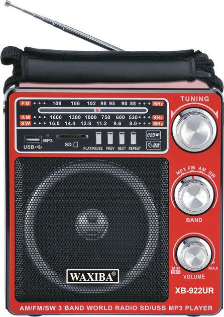 Φορητό επαναφορτιζόμενο RADIO AM/FM/SW  SD / USB MP3 PLAYER με ηχείο 8w WAXIBA XB-922UR