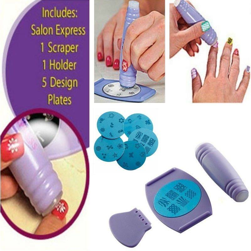 Nail design maker online albui for salon express nail art stamping kit prinsesfo Image collections